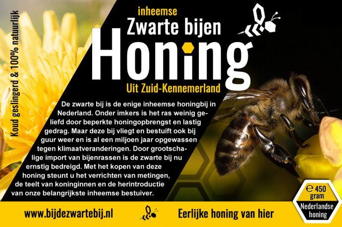 honing van zwarte bij